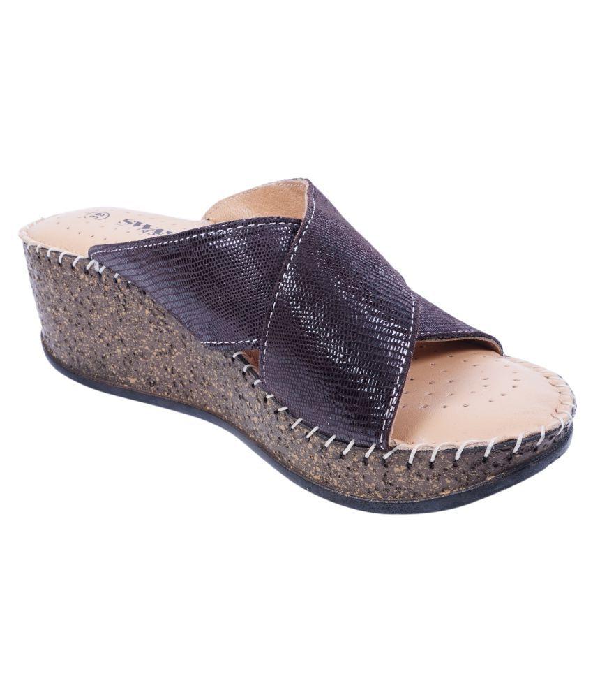 SWANSIND Brown Wedges Heels
