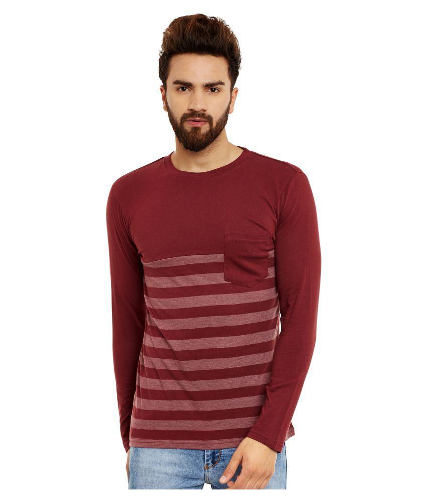 Hypernation Maroon Round T-Shirt