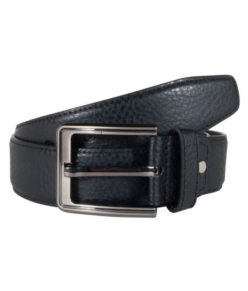 Snoby Black PU Casual Belts