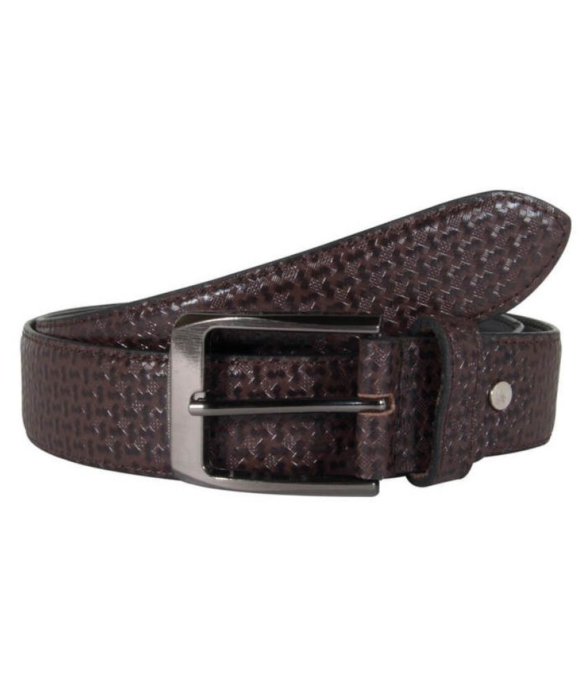 Snoby Brown Leather Casual Belts