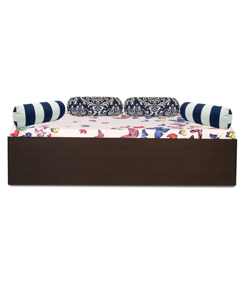 Aspire Divan Bed With Box Storage In Country Dark Finish Buy