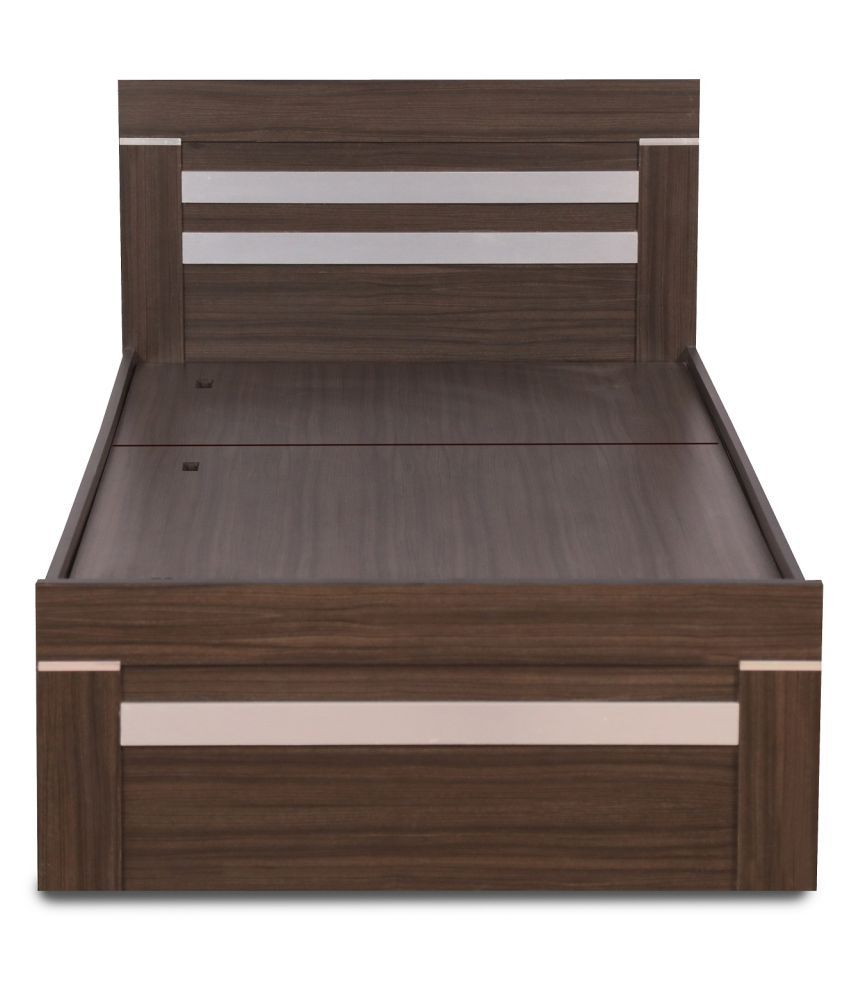 Deco Single Bed With Box Storage In Thai Teak Amp Silver
