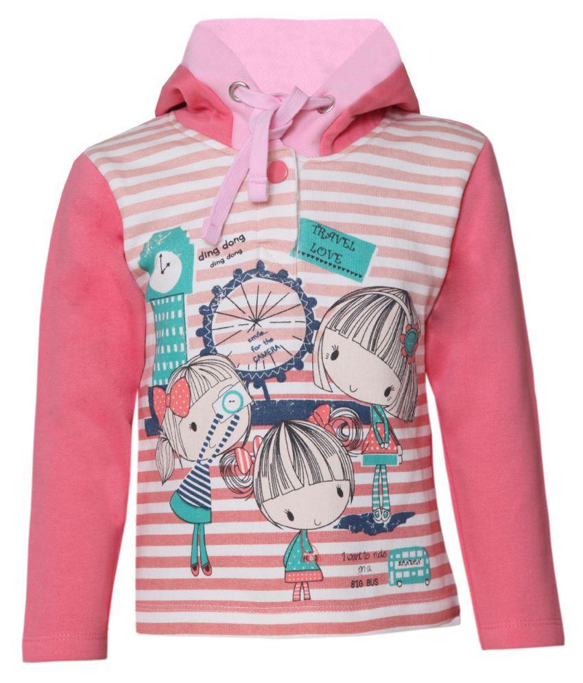 Tales & Stories Girls Pink Hoodie
