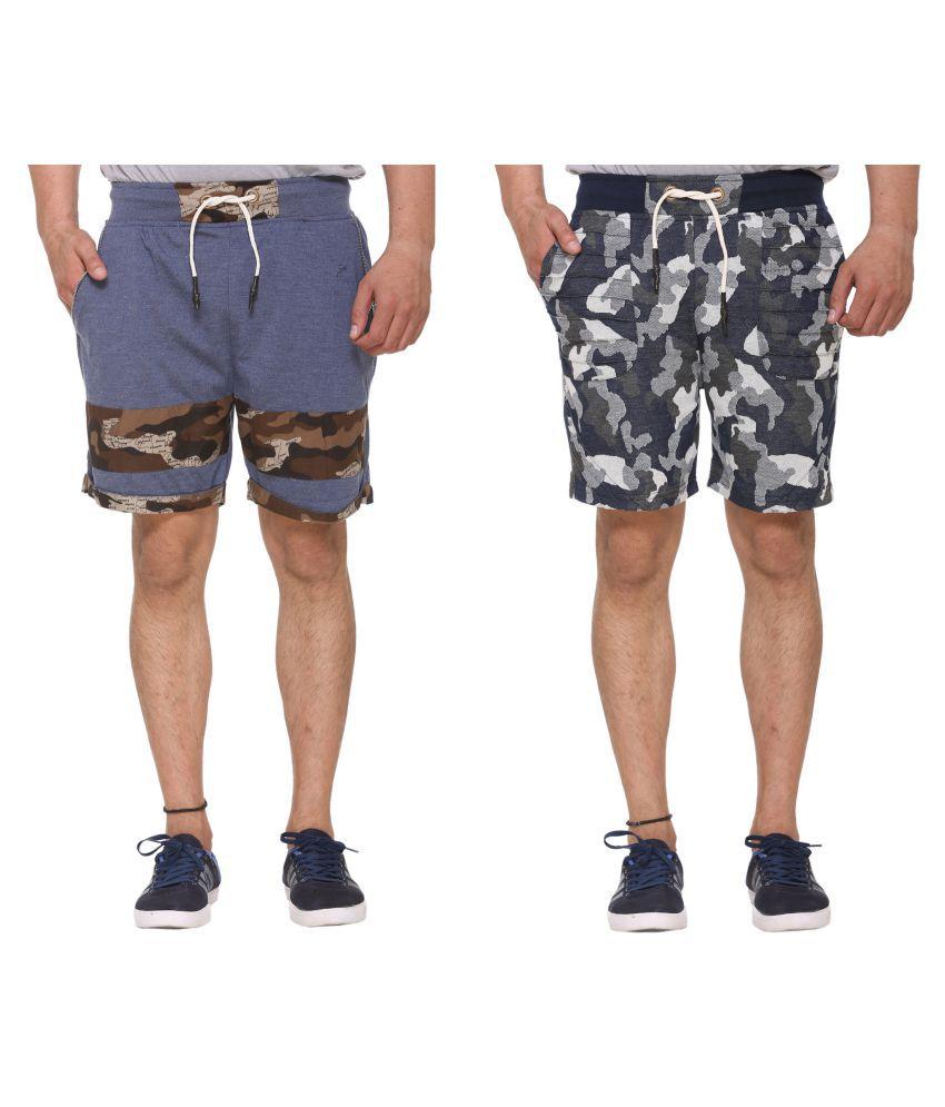 Sports 69 Multi Shorts pack of 2 shorts