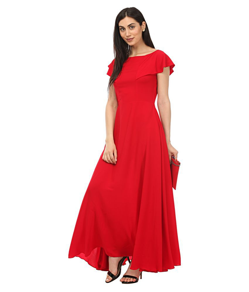 26605601280 Lady Stark Crepe Red Gown - Buy Lady Stark Crepe Red Gown Online at Best  Prices in India on Snapdeal