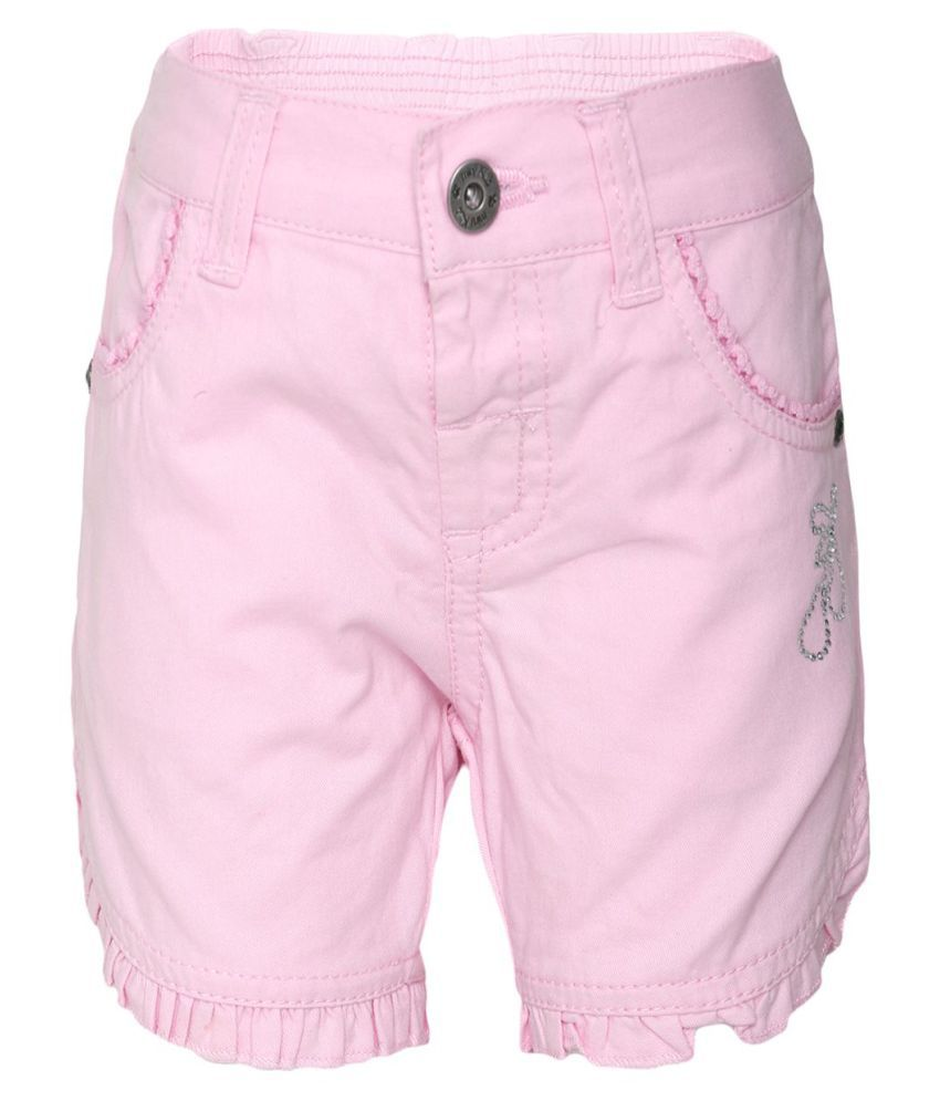 FS MiniKlub Girl's Non Denim Shorts-Light Pink