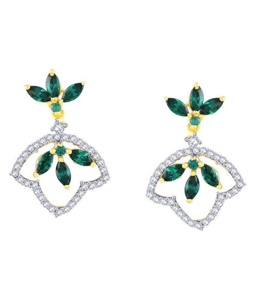 Parineeta 18k BIS Hallmarked Yellow Gold Diamond Drop Earrings