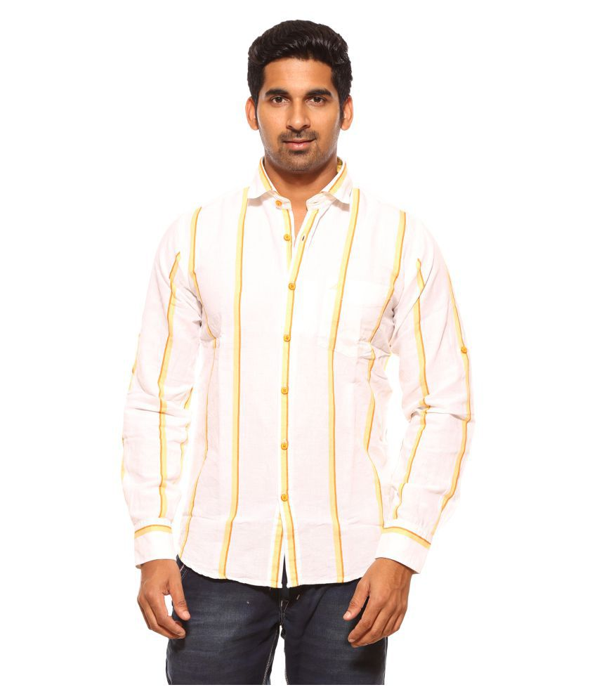 d0809ecb874 Summer Line Yellow Casual Regular Fit Shirt - Buy Summer Line Yellow Casual  Regular Fit Shirt Online at Best Prices in India on Snapdeal