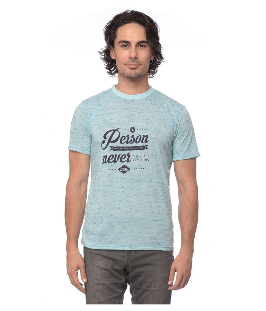 YOLOCLAN Blue Round T-Shirt