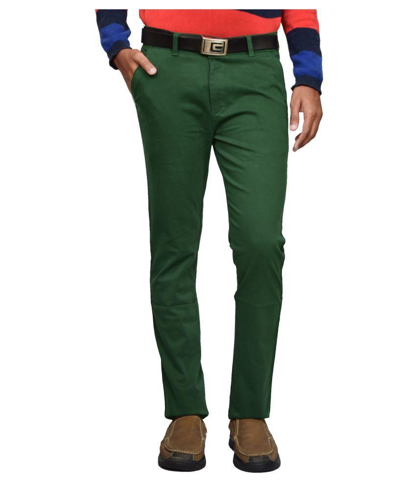 American Noti Khaki Slim -Fit Flat Chinos