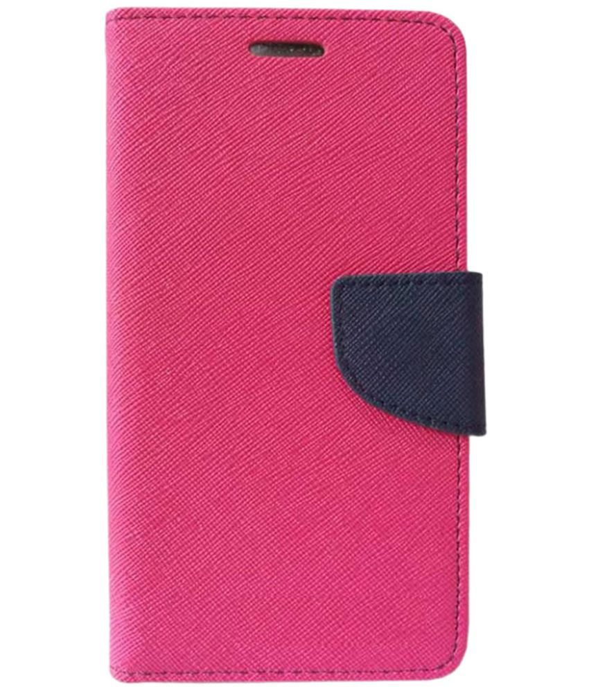 Lyf Wind 4 Flip Cover by Doyen Creations - Pink