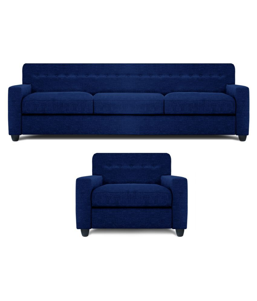 Spaces Therapy Solitaire Fabric 3 1 Seater Sofa Set Navy