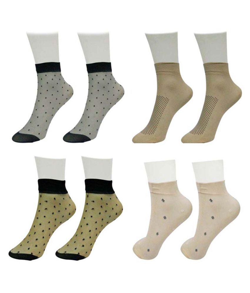 Gold Dust Unique Designer Patterns Socks (4 Pair)