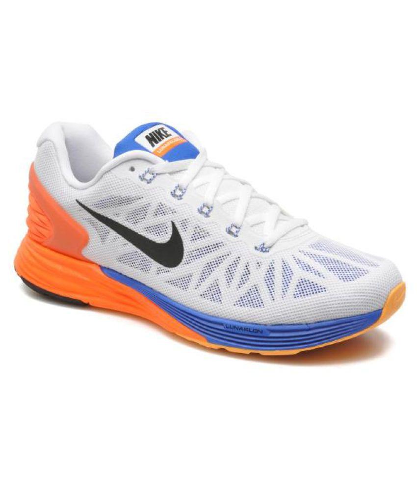 profundizar luego sensibilidad  Nike Lunarlon White Orange Running Shoes - Buy Nike Lunarlon White Orange  Running Shoes Online at Best Prices in India on Snapdeal