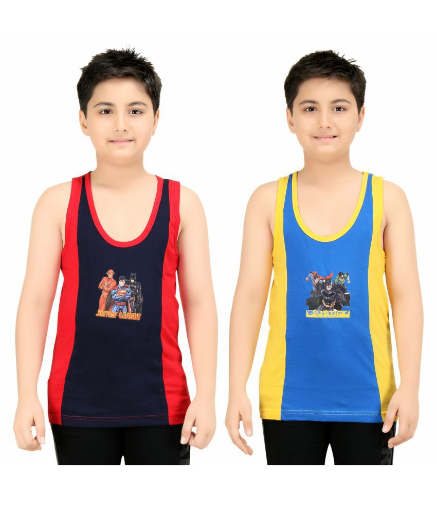 b57e689bde9287 Red Rose Boys Cotton Printed Vest-Pack Of 2PC. - Buy Red Rose Boys Cotton  Printed Vest-Pack Of 2PC. Online at Low Price - Snapdeal