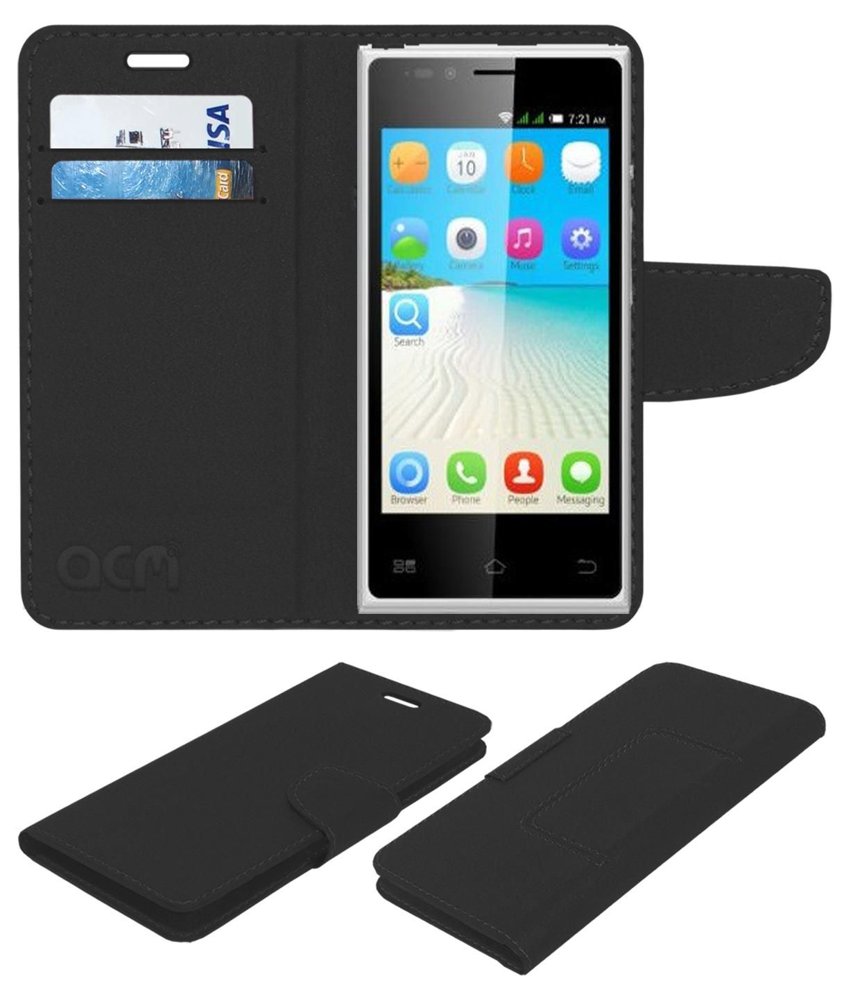 Bq E2 Flip Cover by ACM - Black