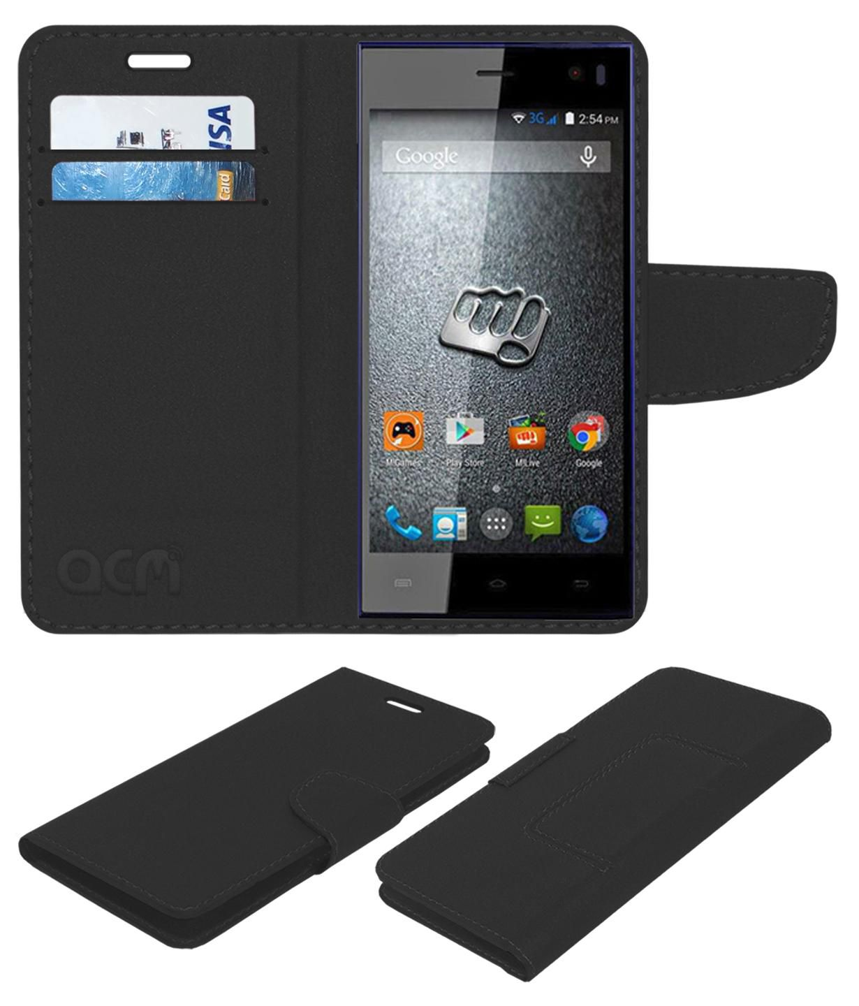 Micromax Canvas Xpress A99 Flip Cover by ACM - Black