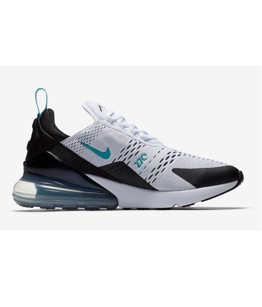 8a0a31d0d24a16 Nike Air Max 270 White Running Shoes - Buy Nike Air Max 270 White Running  Shoes Online at Best Prices in India on Snapdeal