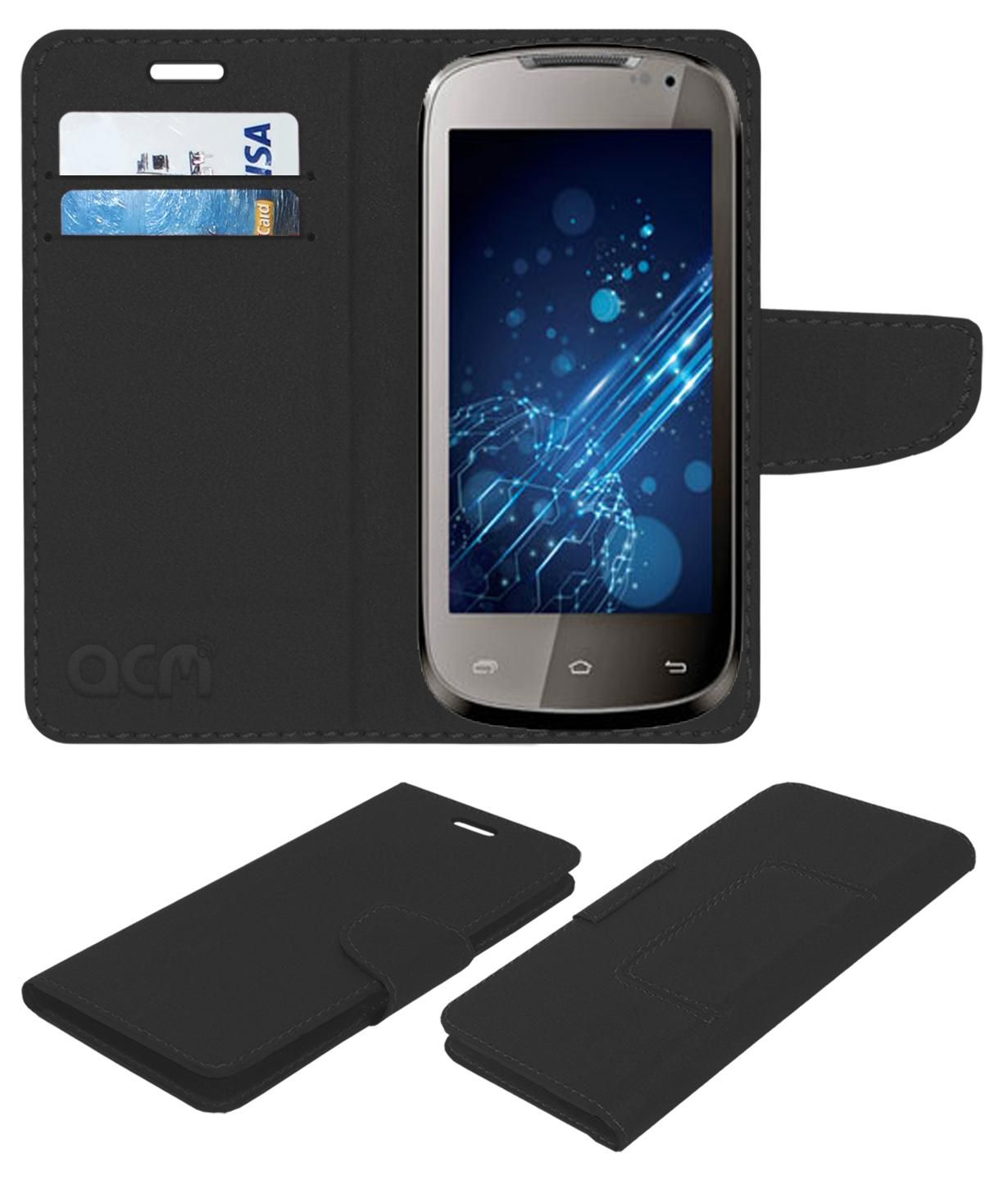 Xolo A700 Flip Cover by ACM - Black