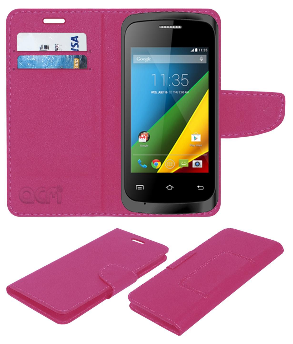 Bloom Globe B35 Flip Cover by ACM - Pink