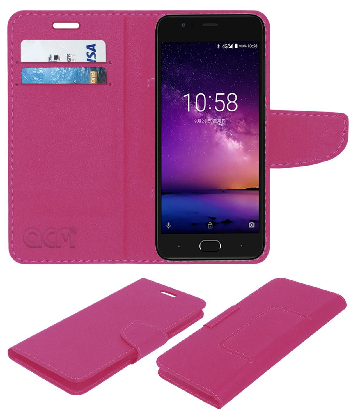 outlet store 755e1 92a86 InFocus A3 Flip Cover by ACM - Pink