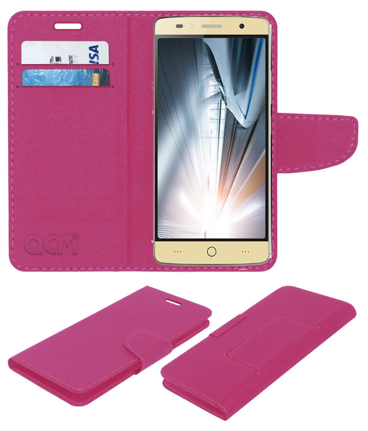 Intex ELYT-E1 Flip Cover by ACM - Pink