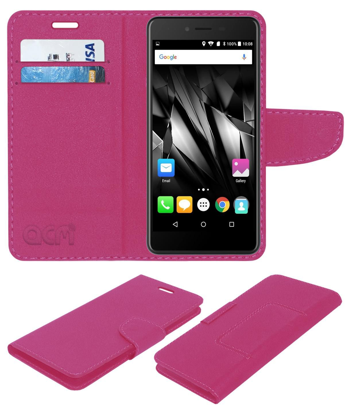 Micromax Bolt Supreme 2 Q301 Flip Cover by ACM - Pink