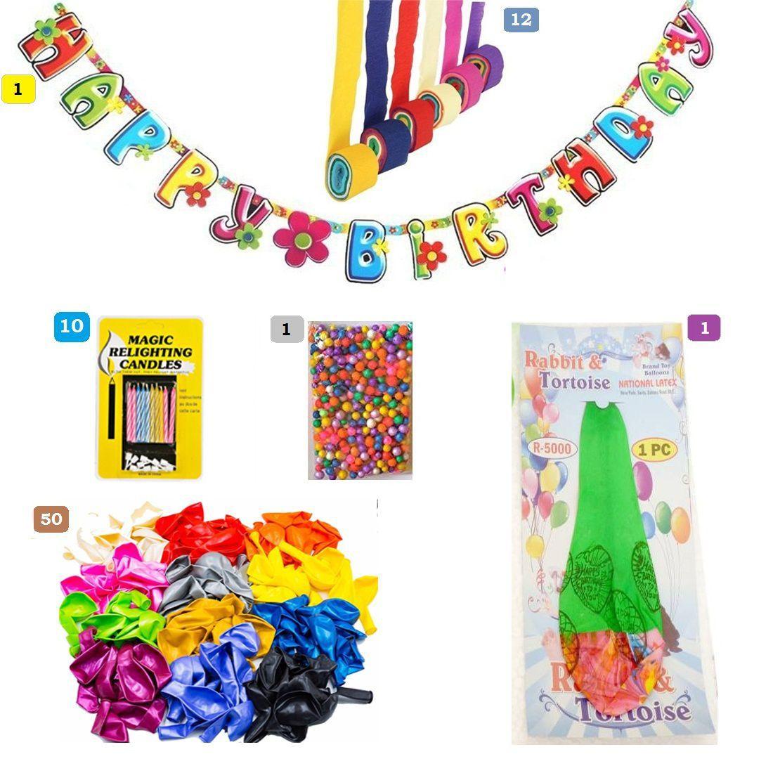 Unisex Happy Birthday Decorations Comprising Of 75 PCS
