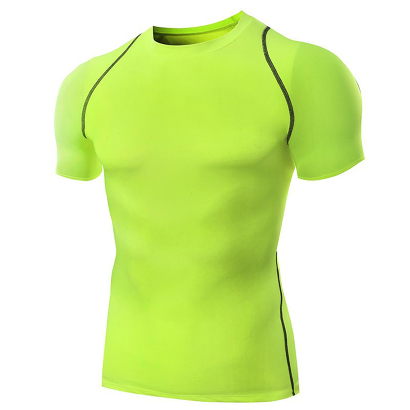 Zesteez Neon Green Strtechable Lycra Fabric Gym|| Activewear||sportswear||Premium Quality Fabric Tshirt