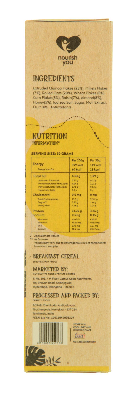 nourish you quinoa muesli honey and nuts buy nourish you quinoa