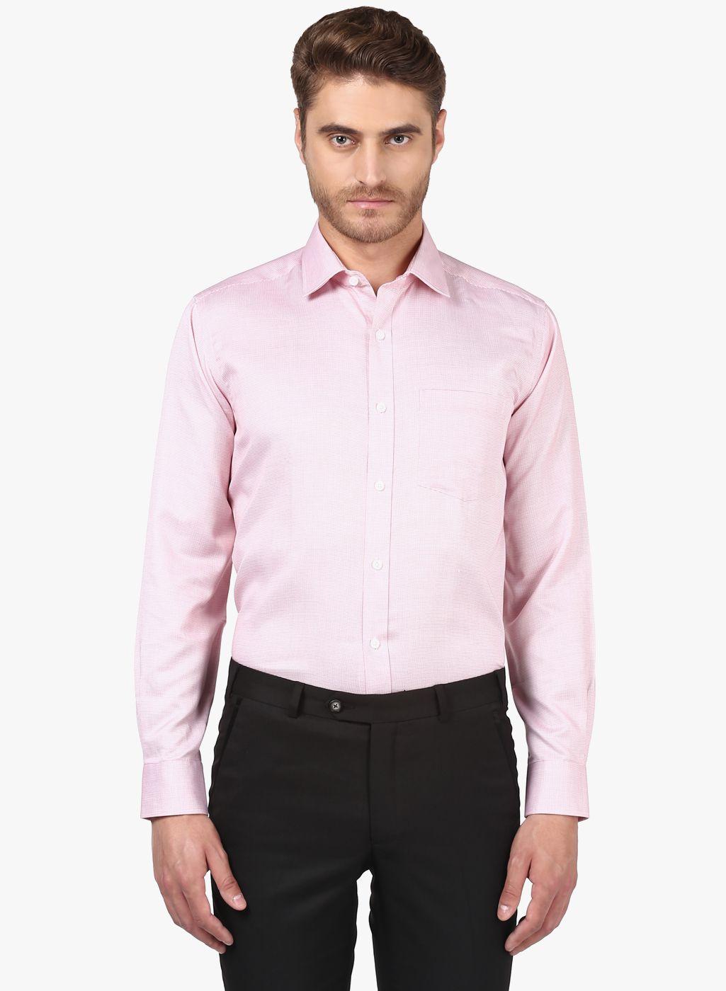 Park Avenue Red Regular Fit Shirt