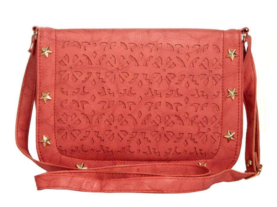 Aliado Peach Faux Leather Sling Bag