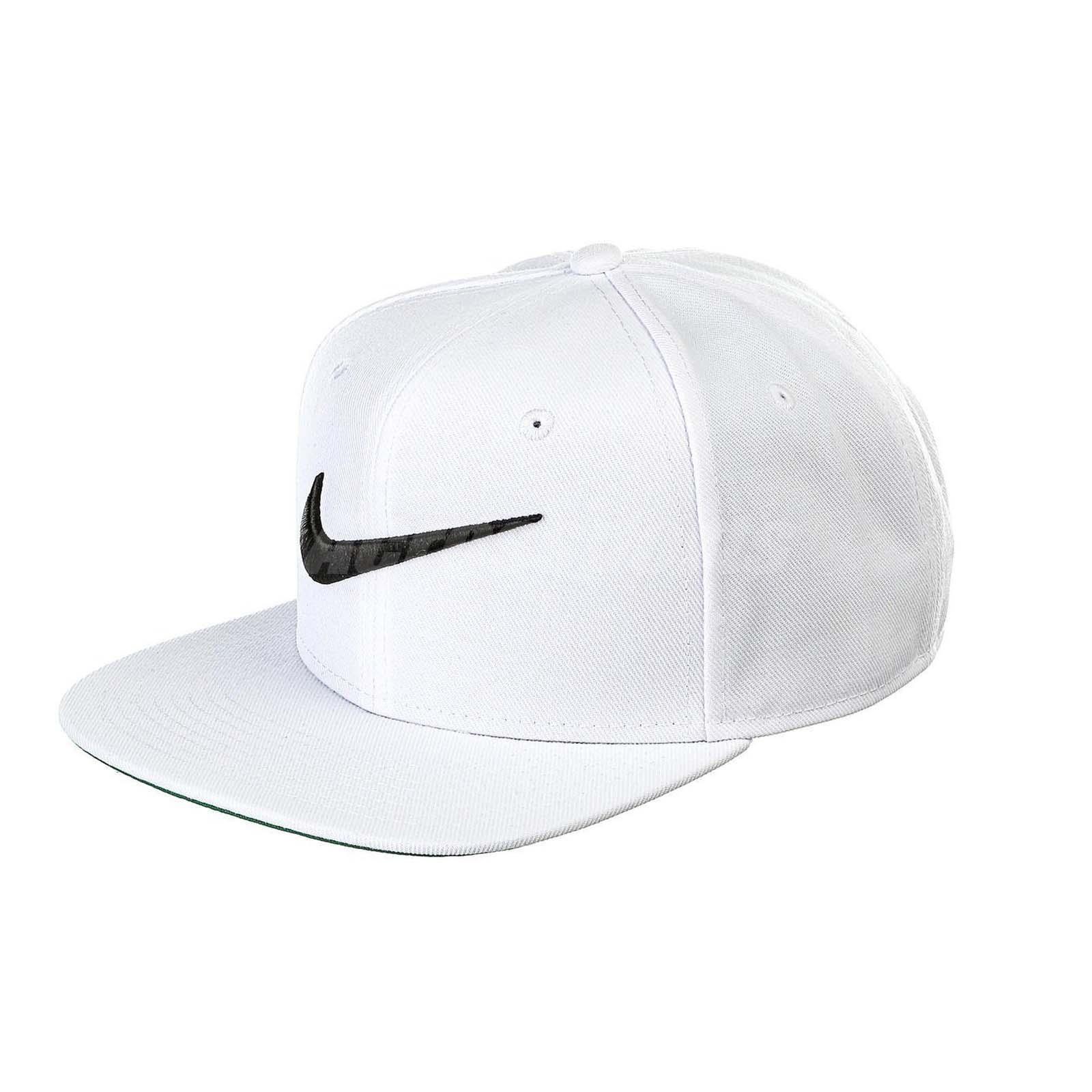 Nike White Plain Polyester Caps