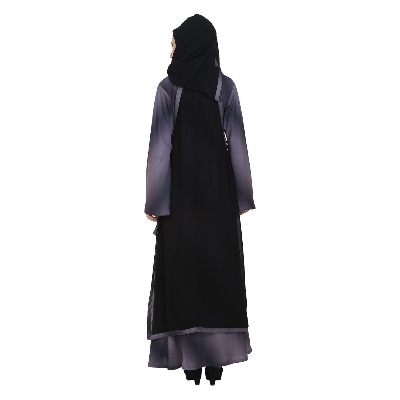 abaya Multicoloured Crepe Stitched Burqas with Hijab
