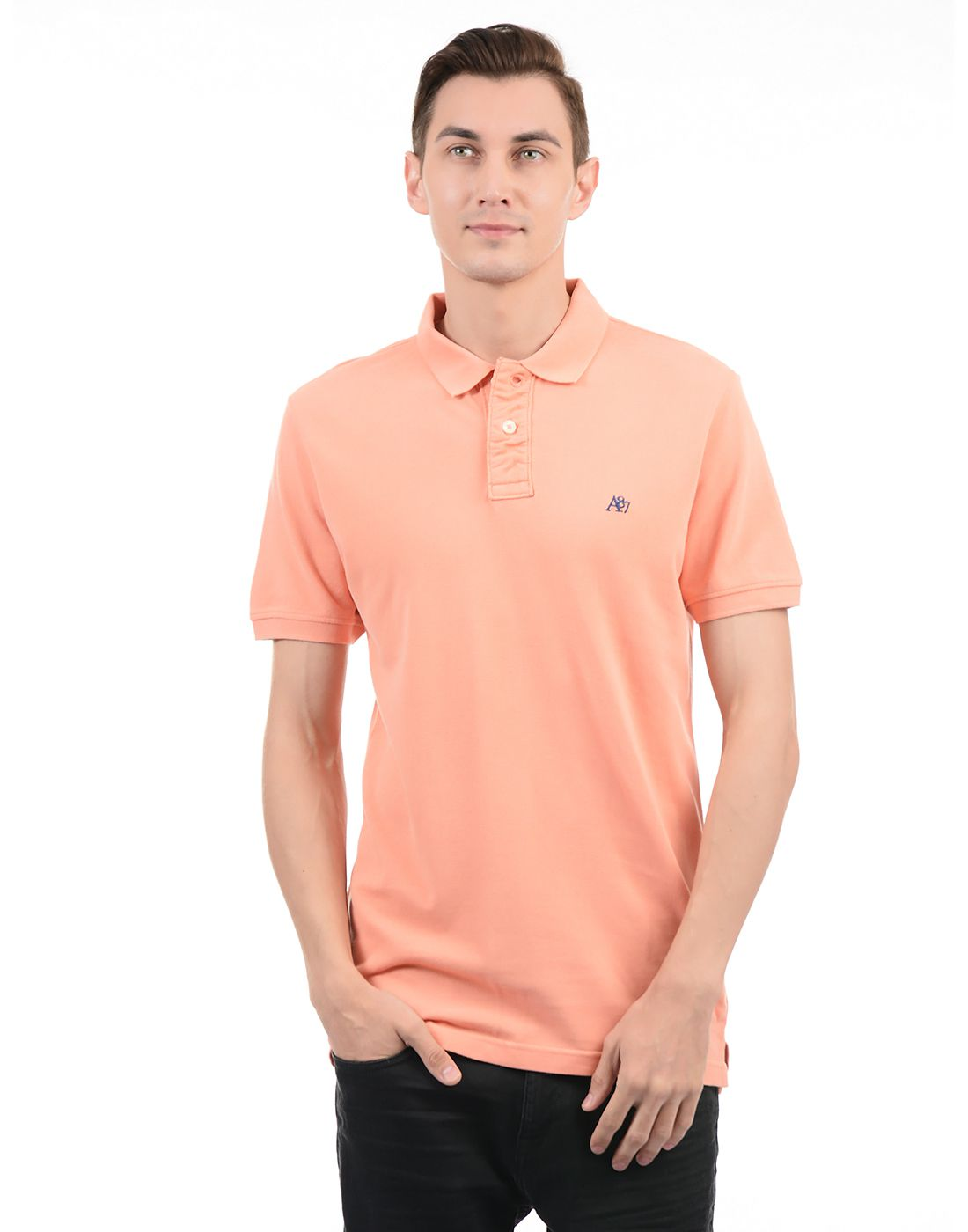 cfd4a7859 Aeropostale Orange Regular Fit Polo T Shirt - Buy Aeropostale Orange  Regular Fit Polo T Shirt Online at Low Price - Snapdeal.com