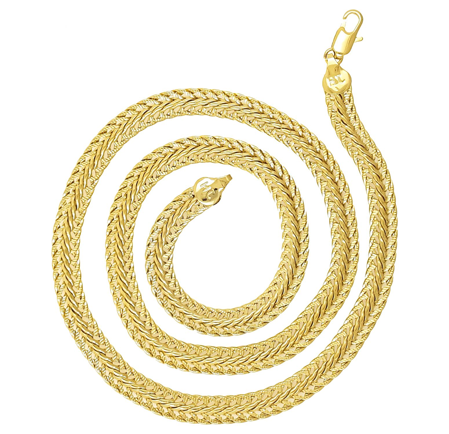 Saizen CH213 Smooth Gold Tone Chain For Men, Boyfriend & Husband