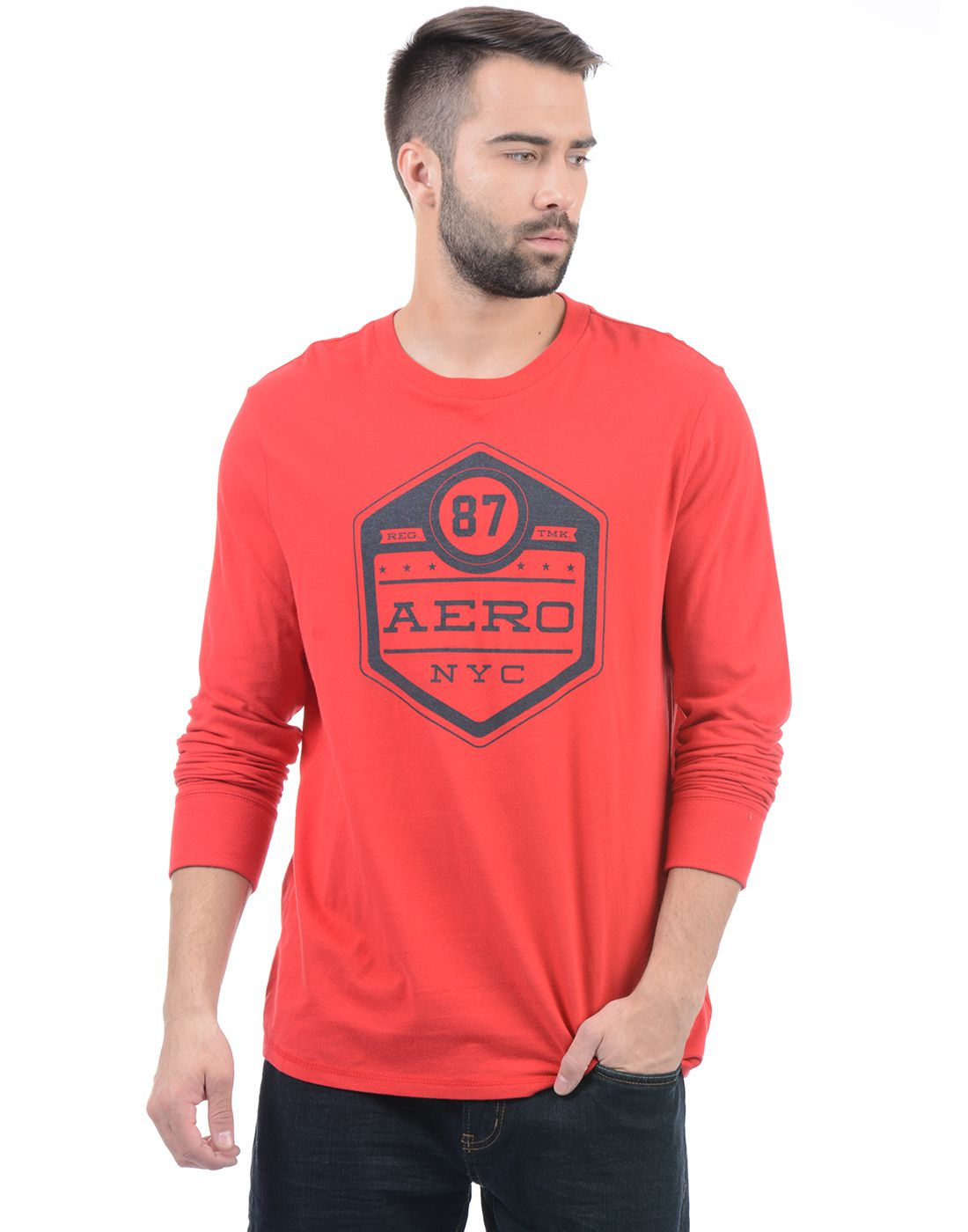 Aeropostale Red Round T-Shirt