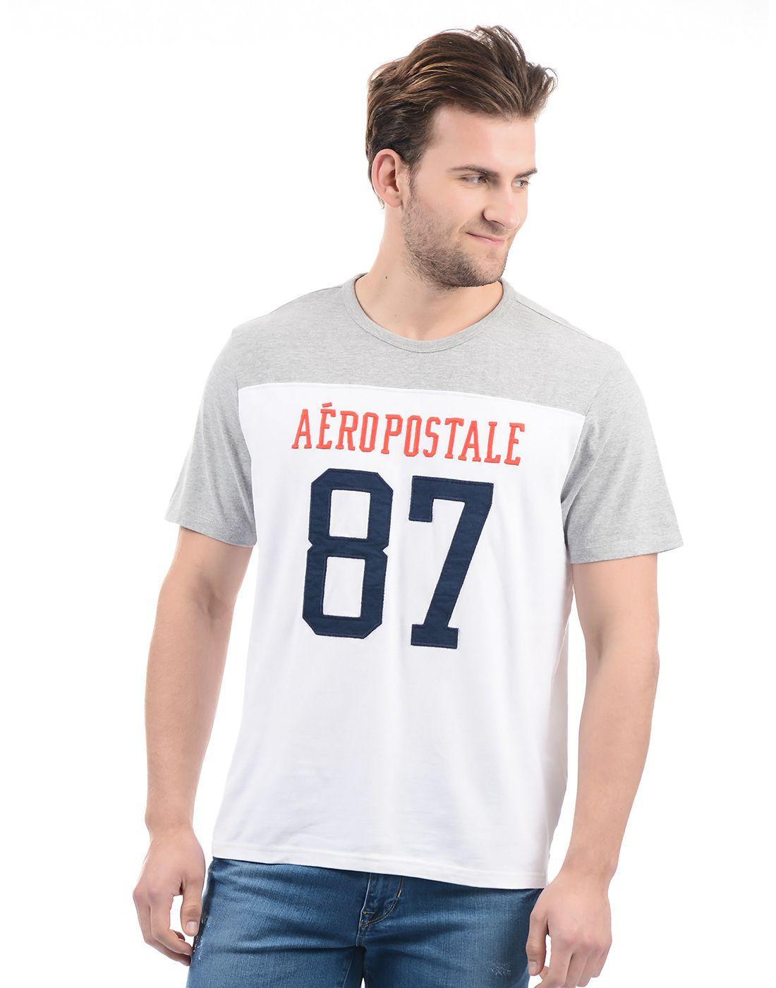 Aeropostale White Round T-Shirt