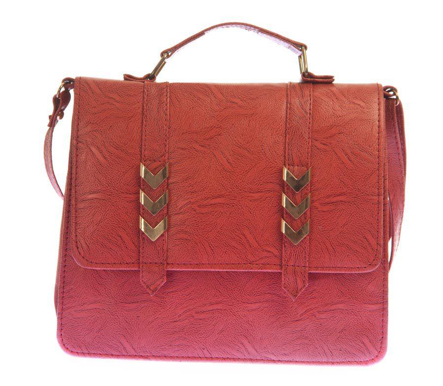Aliado Orange Faux Leather Sling Bag