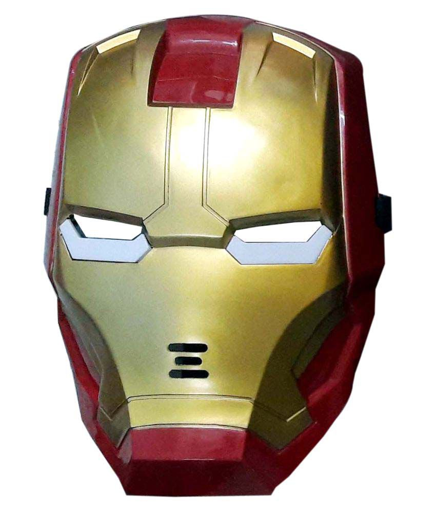 Iron Man Party Face Mask Buy Iron Man Party Face Mask line at