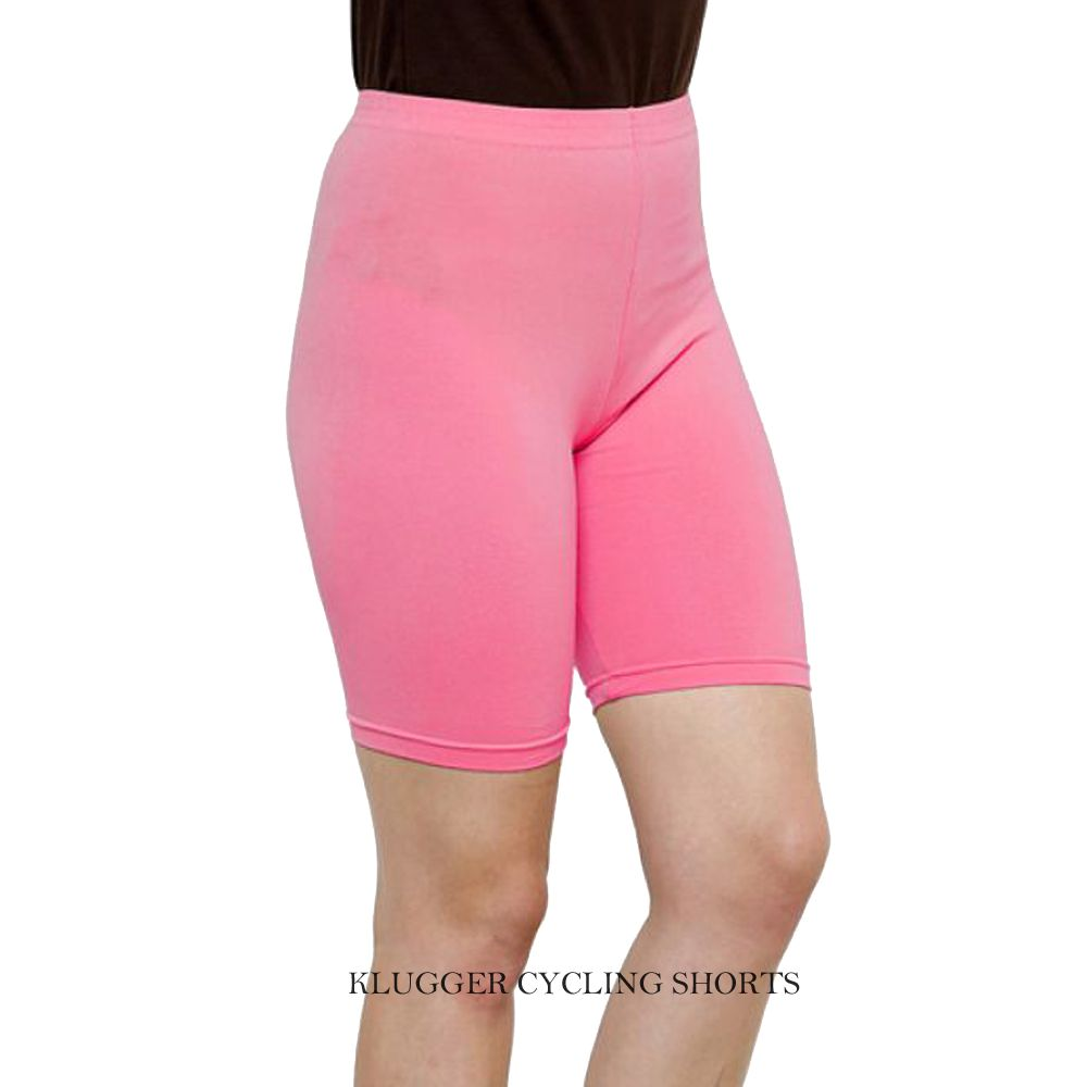 Klugger Women's/Girl's Bio-wash Cotton Lycra Cycling Shorts/Tights/Yoga Pant