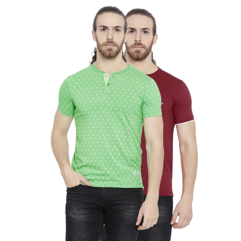 Duke Multi Henley T-Shirt Pack of 2
