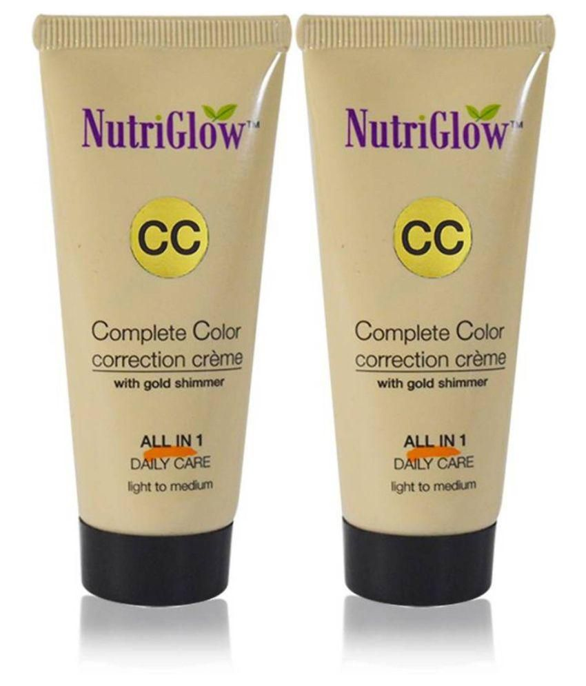 Nutriglow CC Cream Foundation Light Pack of 2 100 g