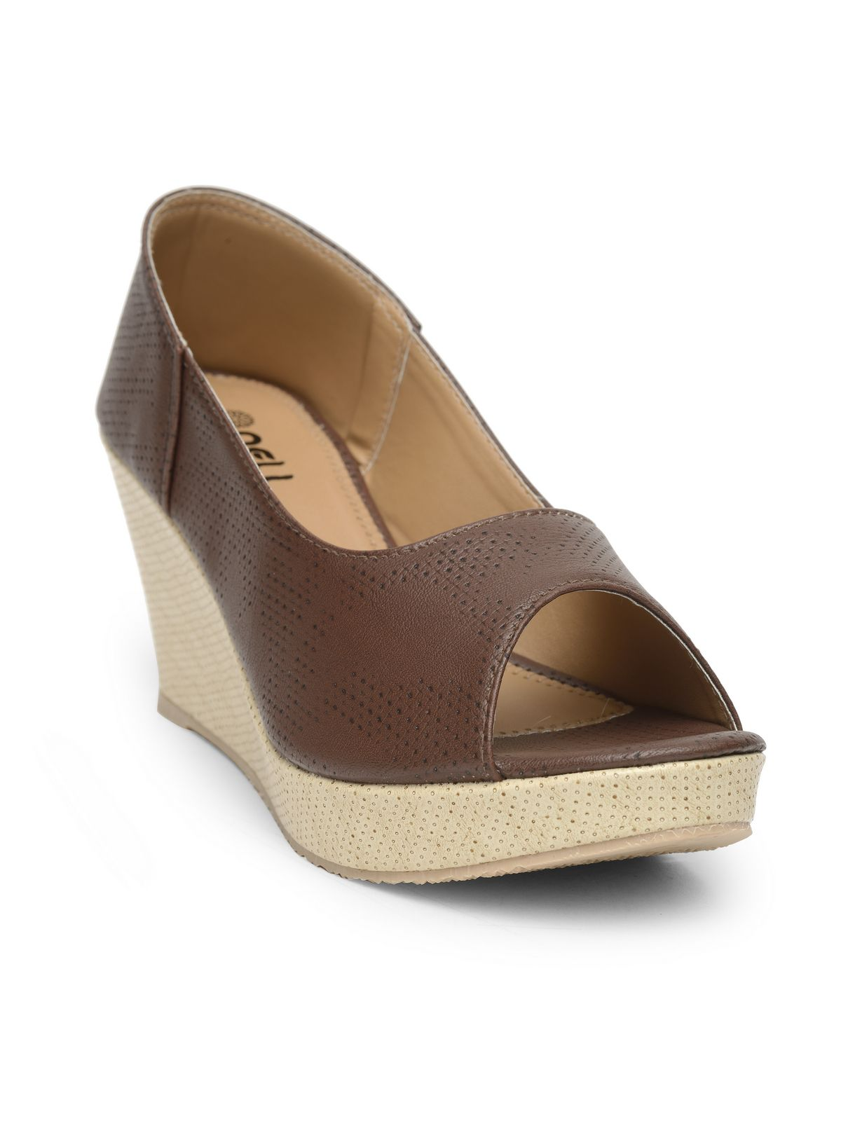 NELL Brown Wedges Heels