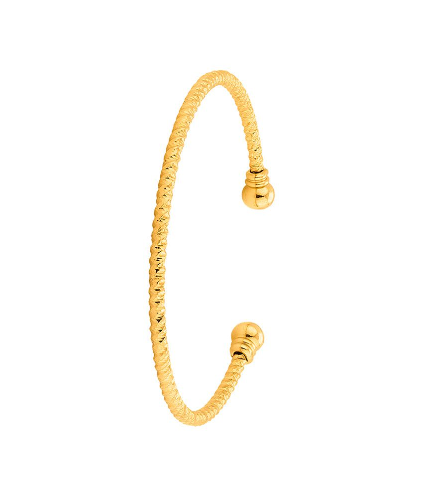 Dare By Voylla Open End Cuff Bracelet with Gold Plating