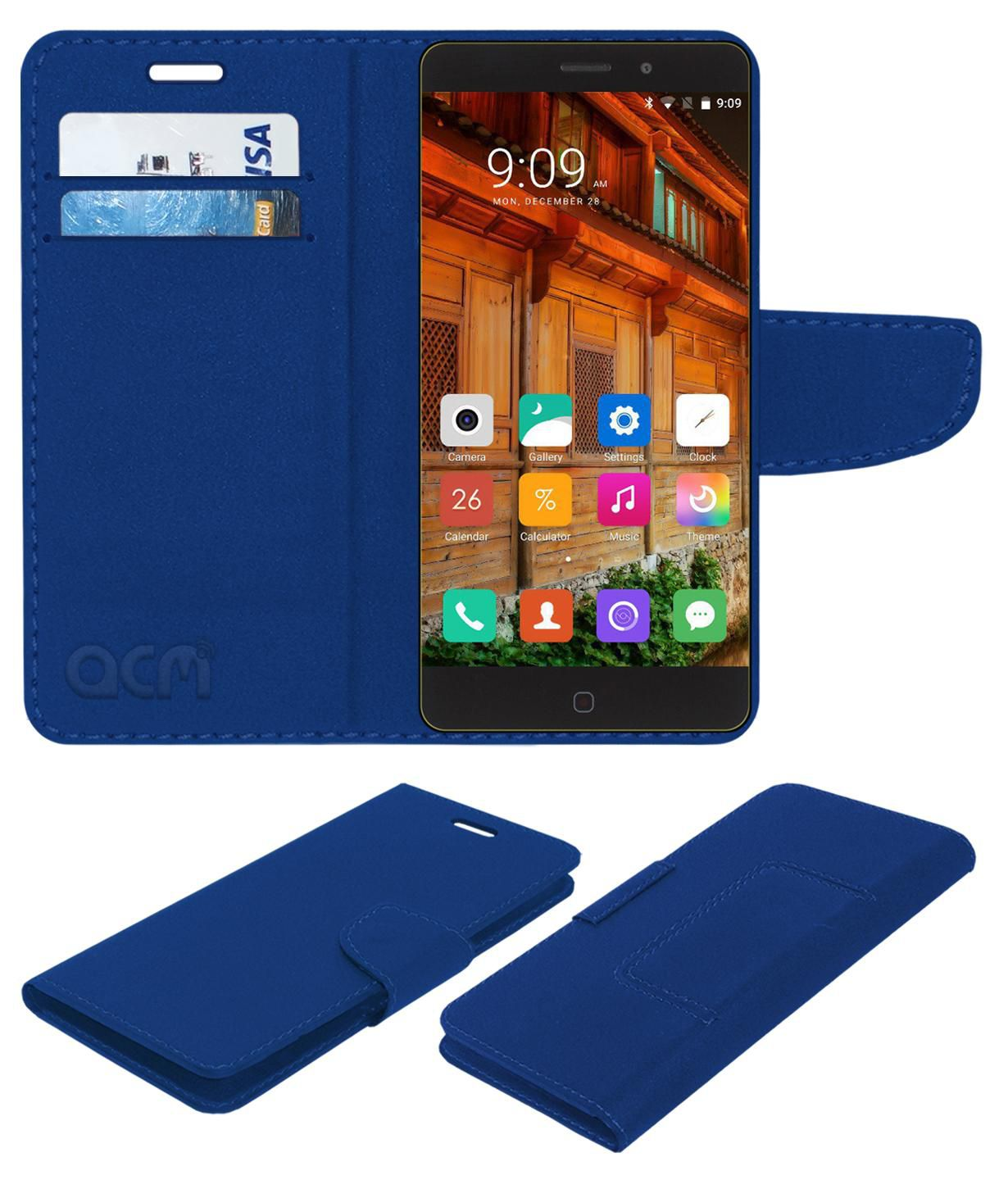 Elephone P9000 Flip Cover by ACM - Blue