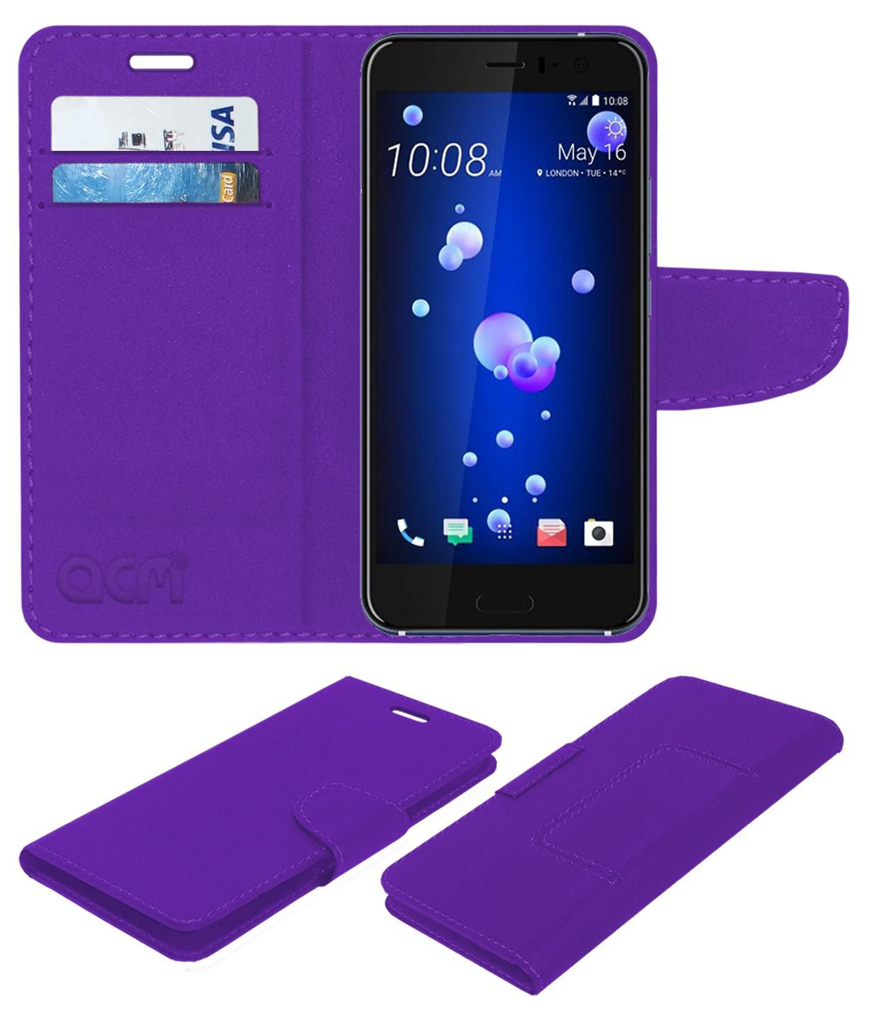 HTC U11 Flip Cover by ACM - Purple