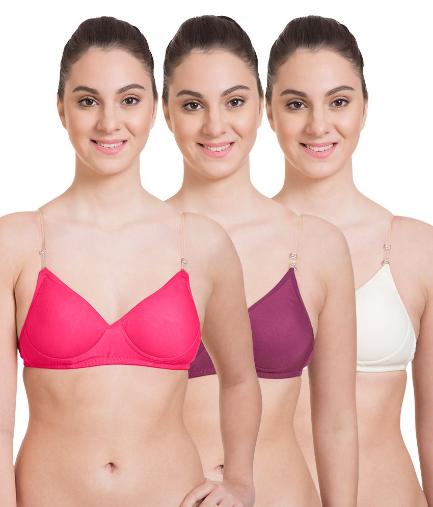 8c30ba2dfeb Buy Komli Cotton T-Shirt Bra - Pink Online at Best Prices in India -  Snapdeal