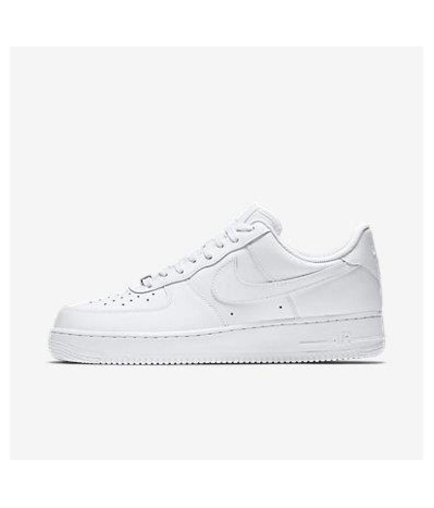 save off 83b88 99551 Nike Air Force 1 White Running Shoes - Buy Nike Air Force 1 White Running  Shoes Online at Best Prices in India on Snapdeal