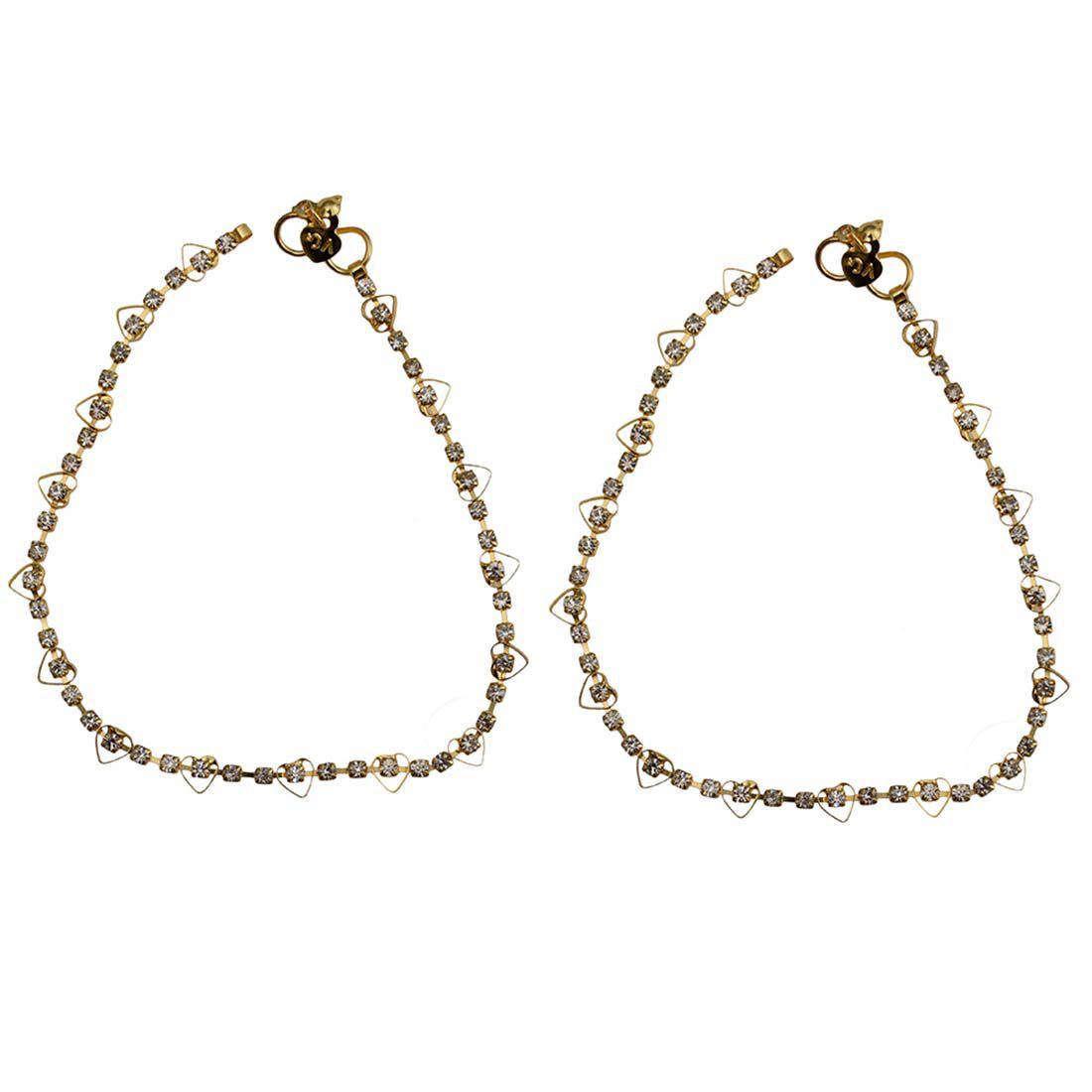 Taj Pearl Designer Gold Plated Anklets